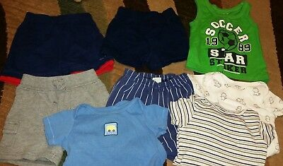 Lot Of Short Sleeve 9 Month Boy Clothes Carters Childrens Place Circo Sesame Str
