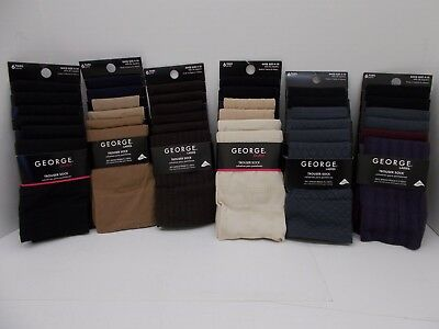 NEW 6 Pairs Pack George Women's Socks Trouser Dress Sock (6 to choose from)