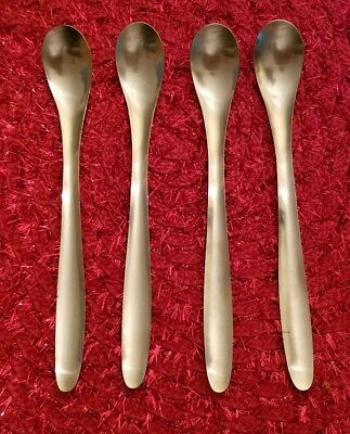Four (4) LAUFFER Finland Design 9 Iced Tea / Parfait Spoons Stainless Flatware