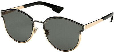 Dior Symmetric Black Marble Vintage Round Cat-Eye Sunglasses 0GBY - Italy