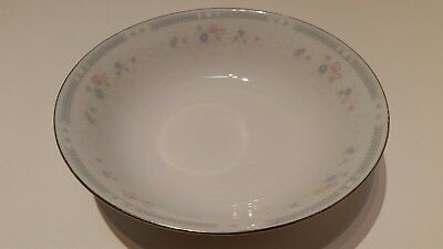 "China Pearl Flora Pattern Fine China 9.25"" Serving Bowl Made In China"