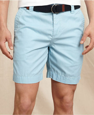 Tommy Hilfiger Mens Classic Fit Cotton Flat Front Chino Shorts 1017782