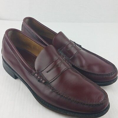 Handmade for CHURCH'S men's dress shoes brown leather penny loafer size 10N