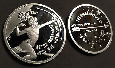 *Proof Astra Inclinant (The Stars Incline Us) Heidi Wastweet .999 Silver Round*
