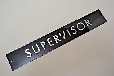 Supervisor Factory Office Door Nameplate Sign Title Raised Letter Plaque Vintage