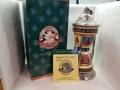 2000 Anheuser Busch Collectors Club Members Only Stein; A Celebration...
