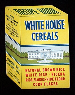Vintage White House Cereals Standard Rice Co.  Advertising Cook Book / Recipes