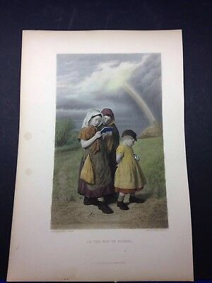 Antique Hand Colored Steel Engraving