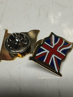 Small British Flag Pin New Metal
