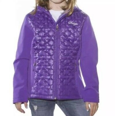 NEW GIRLS SNOZU SOFT LINED SOFT SHELL JACKET Water Resistant HOODED Size 10/12