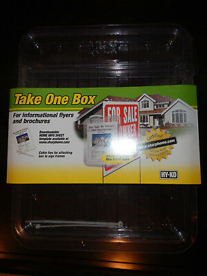 Hy-Ko Take One Box For Informational Flyers/brochures (Lot Of 2)  New!