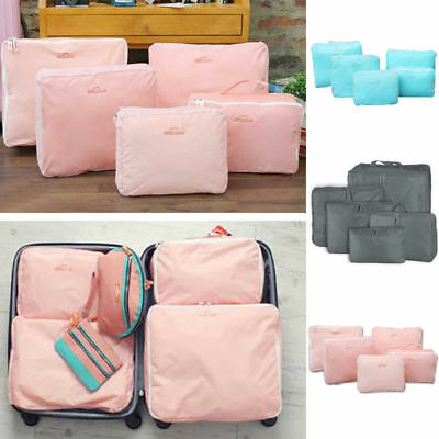 Travel Storage Bags Waterproof Clothes Packing Cube Luggage-Organizer 5 Pcs/Set