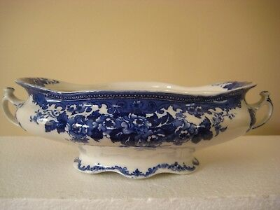 COLWYN Late Mayers Flow Blue & White Oval Compote Bowl
