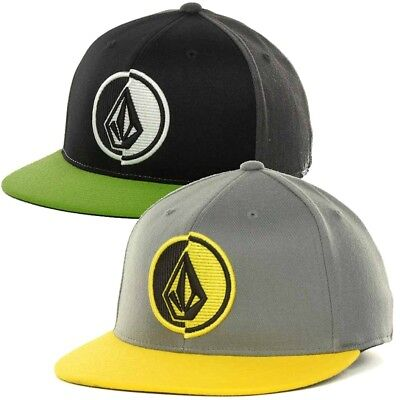 75748e649a1 VOLCOM 951 STONE Mens 210 Fitted Flex Fit Charcoal Blue Wool Blend ...