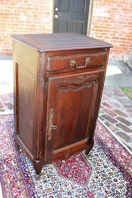 Beautiful Antique French Carved Oak Louis XV Left Top Cabinet .