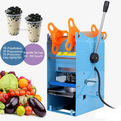270W Cup Sealing Machine Manual Sealer Boba Milk Tea Film 300 - 500 Cups/hr