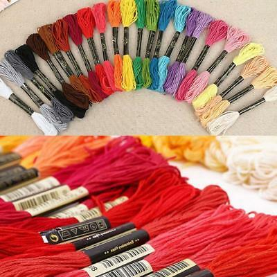 50 Color Egyptian Cross Stitch Cotton Sewing Skeins Embroidery Thread Floss  PQ