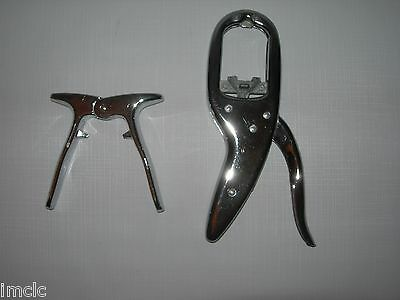 2 Mid Century Modern Chrome-Stainless NUT CRACKERS~1 Italy & 1 England~Retro
