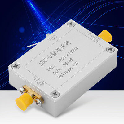 ADS-B 1090MHz RF Front-end Radio Frequency Low Noise Amplifier 38dB Gain LNA MP