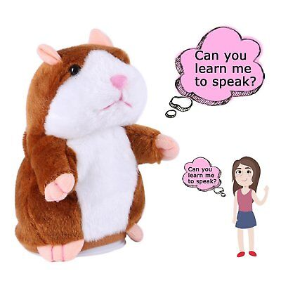 Talking Hamster Plush Pet Repeat What You Say Funny Kids Stuffed Toys Xmas Gift
