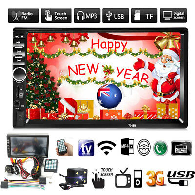 Double 2 Din 7'' Car Stereo Radio MP5 MP3 Player Head Unit Touch Bluetooth Radio