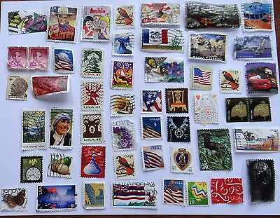 Lot of 50+ Vintage Postage Stamps Posted Unposted Used Unused #1