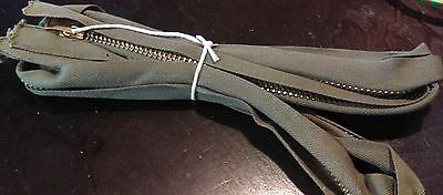 Lot of  Large  Green heavy duty Military zipper x2