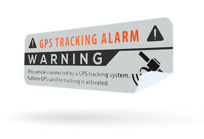 2x GPS Aufkleber silber Auto Alarmanlage Anti Theft Stickers Car Alarm System