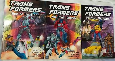 Transformers paperback bundle End Of The Road All Fall Down Primal Scream