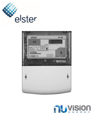Elster 3-ph generation meter A1100, 100A (500 pulse/kWh) 16 year product life