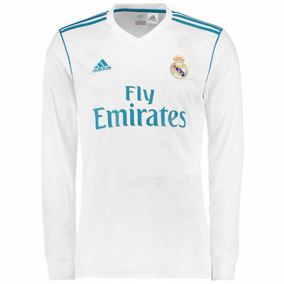 Adult Long Sleeve Real Madrid Home Shirt 2017-18 with Ronaldo 7 H411