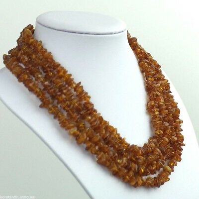 Baltic sea raw Amber stones Necklace great nice gift 真正的琥珀項鍊