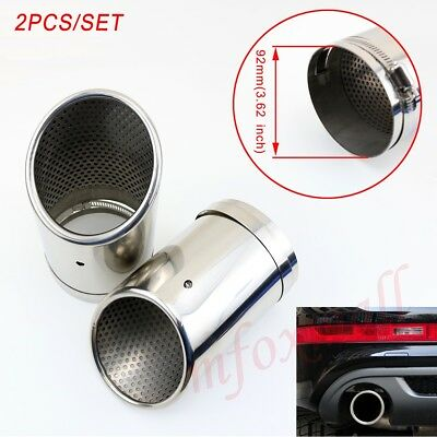 2pcs Stainless Steel Rear Muffler Exhaust For Audi A8 Q7 3.0T Tail Pipe Decorate
