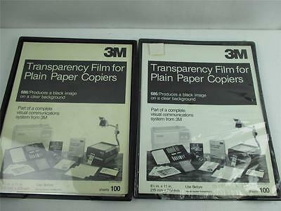 Lot of 2 Transparency Film for Plain Paper Copiers 3M  vintage 100 +