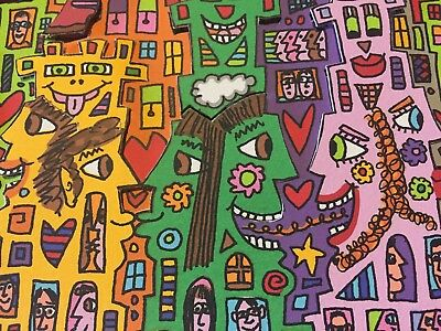 """James Rizzi: original 3D, """"LOOK THERE ARE COWS IN THE CITY"""", handsigniert, 2000"""