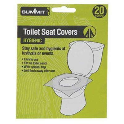 20pk Summit Flushable Paper Toilet Seat Cover Disposable Hygienic Health Camping