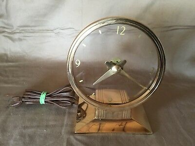 JEFFERSON GOLDEN HOUR MYSTERY CLOCK -1950's  - Tested & Working - Art Deco NICE!