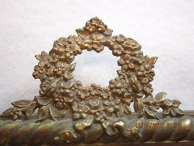 "Antique Victorian Ornate gold metal photo frame - 5 x 8""- CHRISTMAS GIFT!"
