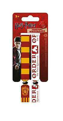 Harry Potter Wristbands Gryffindor house logo official 2 x Fabric Strap Festival