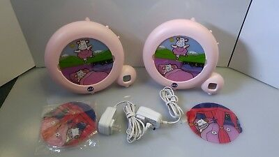 2 Kid'Sleep Classic Pink Cow Sleep Trainer Clock