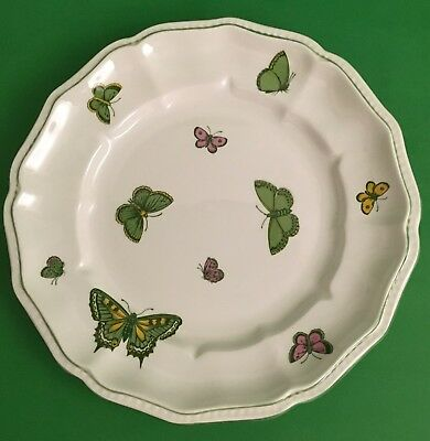 Vintage Crown Stafford Shire England Bone China Butterfly Luncheon Salad Plate