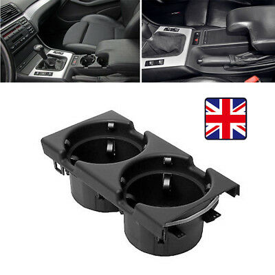 51168217953 FRONT CENTER CONSOLE DRINKS HOLDER BLACK FOR BMW 3 SERIES E46 Uk