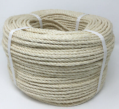 Sisal Rope, Natural Fibre Rope, Cat scratch post rope, Decking, Crafts, Any Size