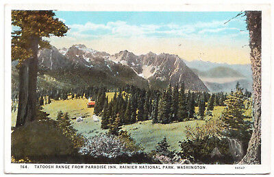 AK US USA Post Card Tatoosh Range f. Paradise Inn Rainier Park ungelaufen