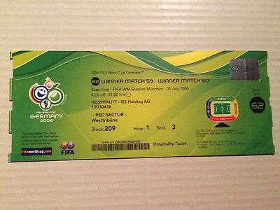 Used Ticket FIFA World Cup 2006 #62 Portugal France Frankreich