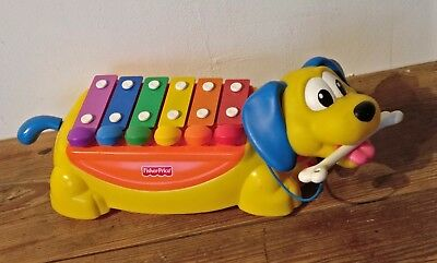 Fisher Price  / Rolling Xylophone Dog /  xylofoon speel hond