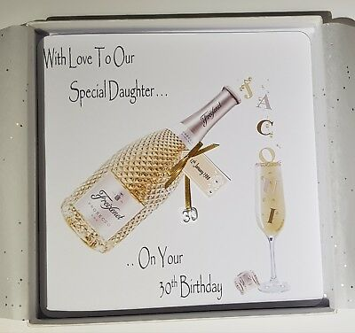 Personalised 30th Birthday Card Daughter Prosecco 18th 21st 40th 50th 60th
