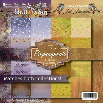 Yvonne Creations Paper Pack HALLOWEEN & FALL FAVOURITES 15,2 x15,2 cm YCPP10002