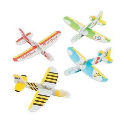 1 Foam WWII Airplane Glider Colorful Toys Child Fun Party Favor Kids Plane