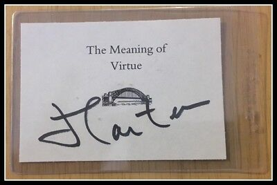 AUTOGRAPHED SIGNED by Pres Jimmy Carter Signature Virtue Black with COA FreeSHIP